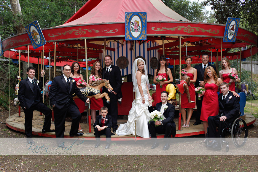 bridal party on merry go round.jpg