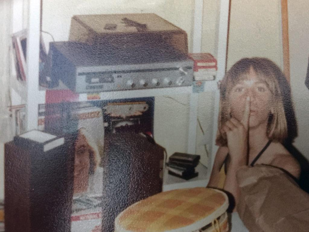 girl making mix tape