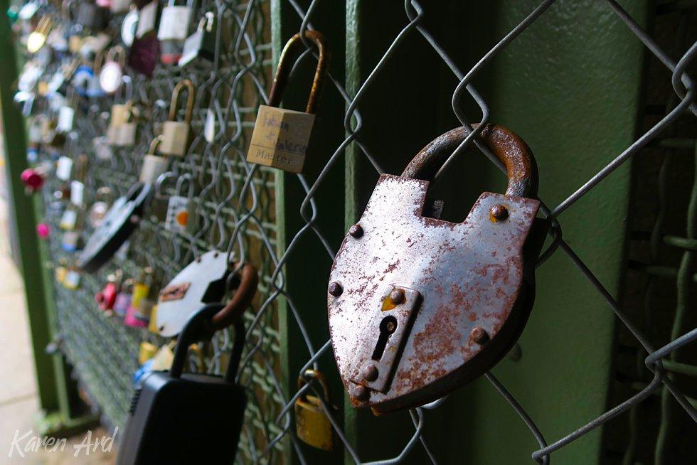 love locks, oak park